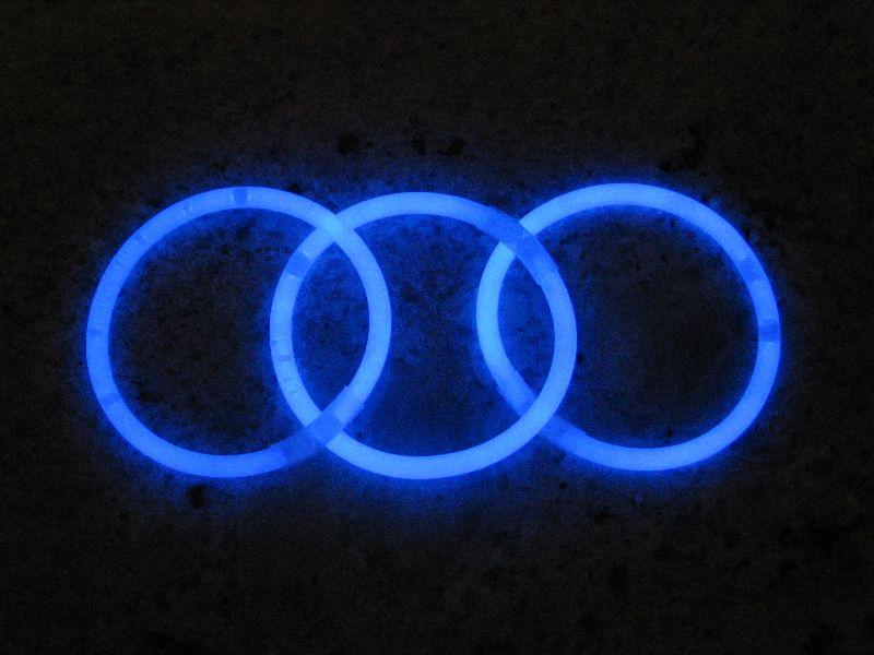 Svítící náramky 100ks - MODRÁ