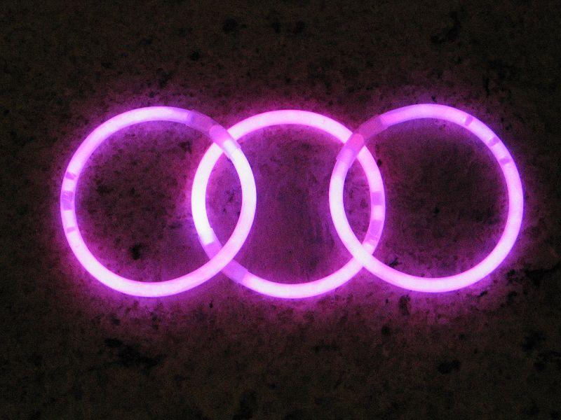 Svítící náramky 100ks - RŮŽOVÁ